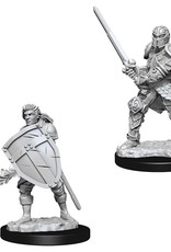 Wizkids D&D Unpainted Minis: Human Fighter Male