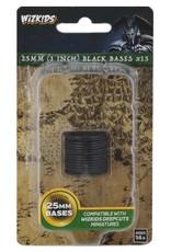 Wizkids Deep Cuts Unpainted Minis: 25mm Round Base (15) Black