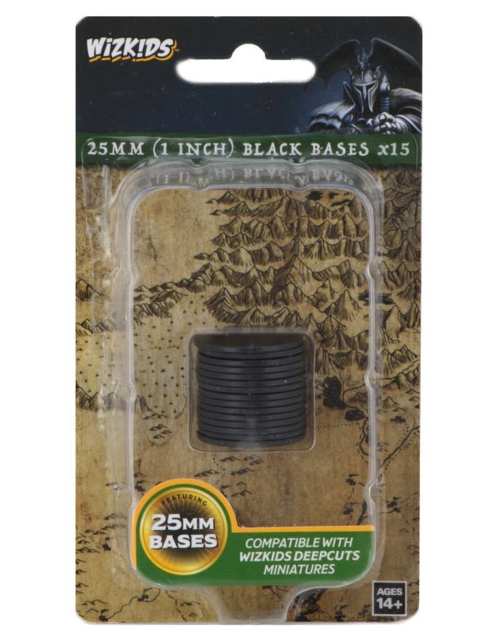 Wizkids Deep Cuts Unpainted Miniatures: 25mm Round Base (15) Black