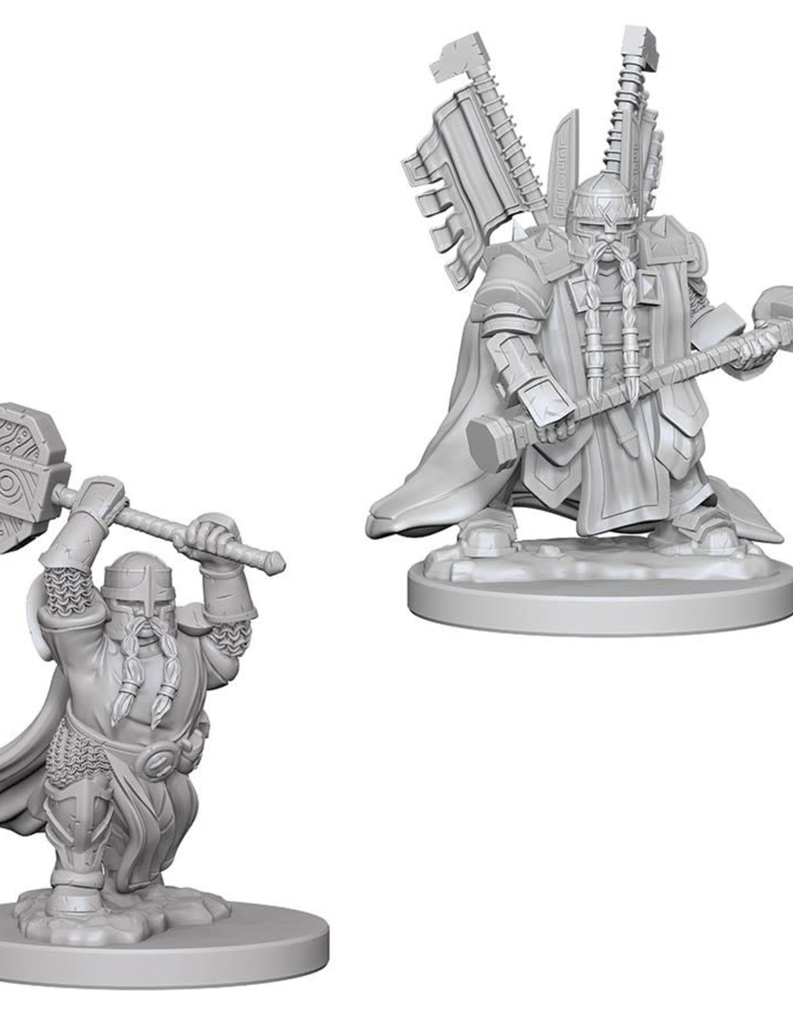 Wizkids D&D Unpainted Minis: Dwarf Male Paladin