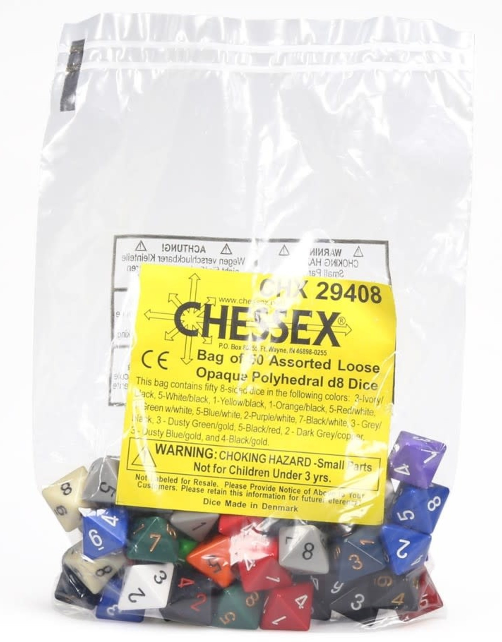 Chessex Assorted D8 Dice: Bag of Assorted Dice (50)