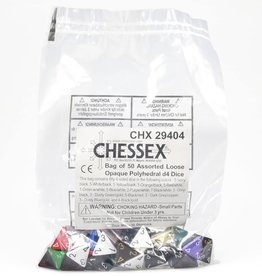 Chessex Assorted D4 Dice: Bag of Opaque Dice (50)