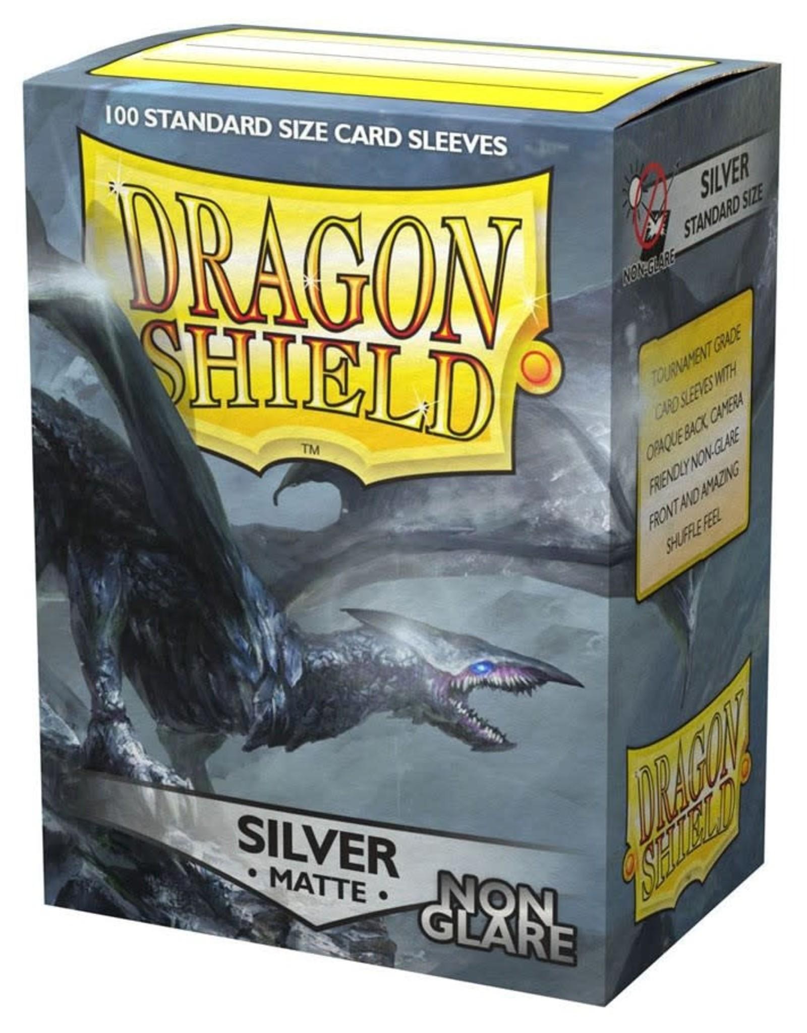 Arcane Tinmen Deck Protectors: Dragon Shield Non-Glare Matte (100) Silver