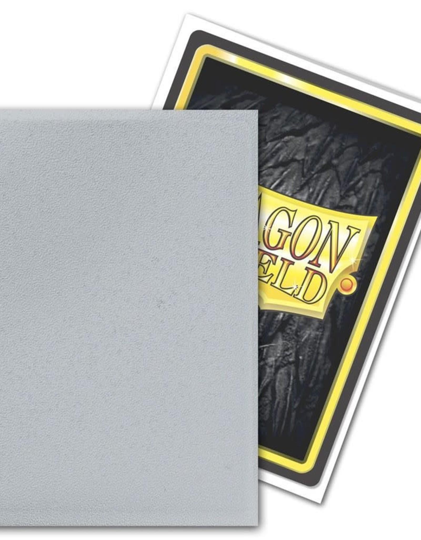 Arcane Tinmen Sleeves: Dragon Shield Non-Glare Matte (100) Silver