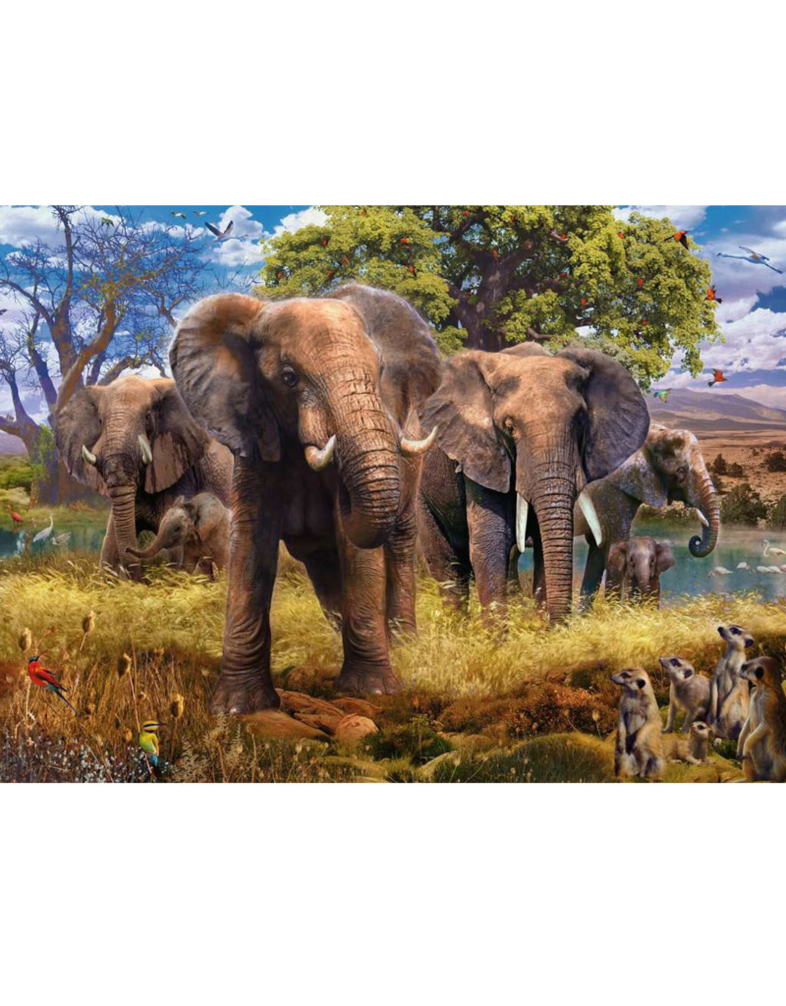 Ravensburger Elephants Puzzle 500 PCS