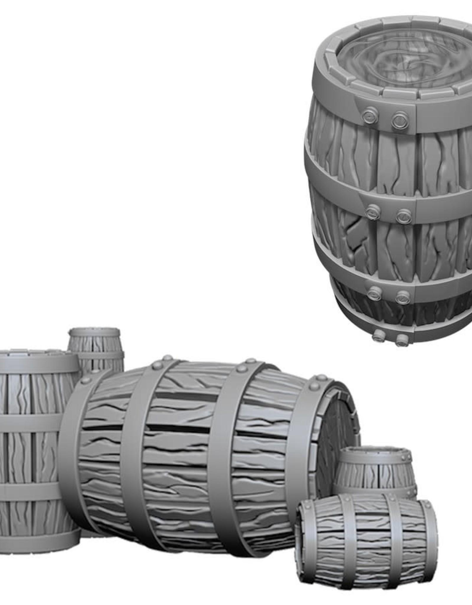 Wizkids Deep Cuts Unpainted Minis: Barrel and Pile of Barrels
