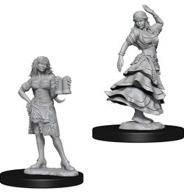 Wizkids Deep Cuts Unpainted Minis: Bartender and Dancing Girl