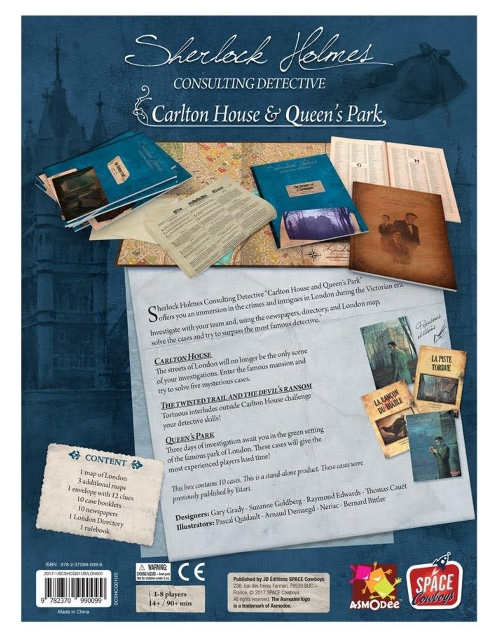 Sherlock Holmes Consulting Detective Carlton House and Queen's Park
