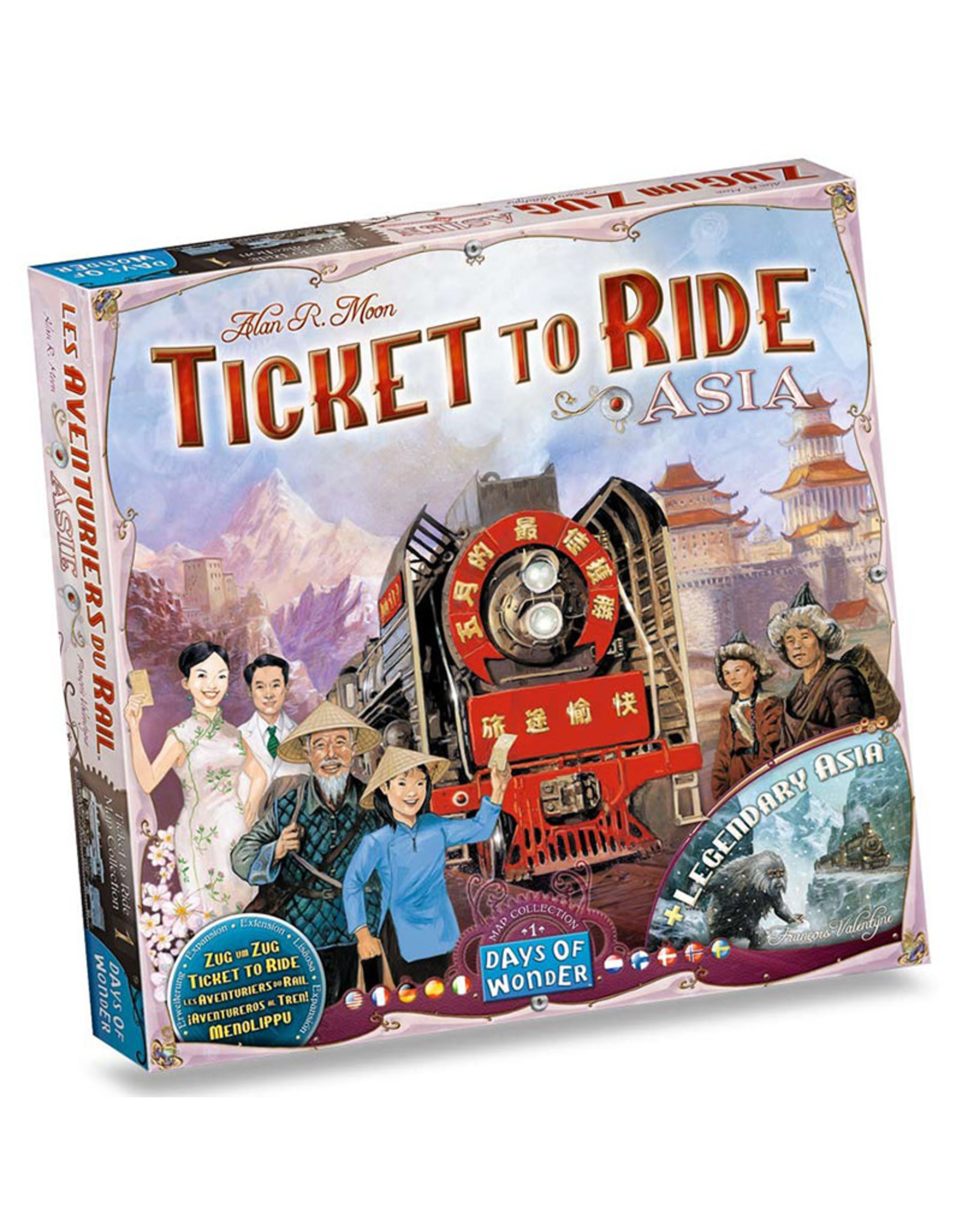 Ticket to Ride Expansion 1 Asia