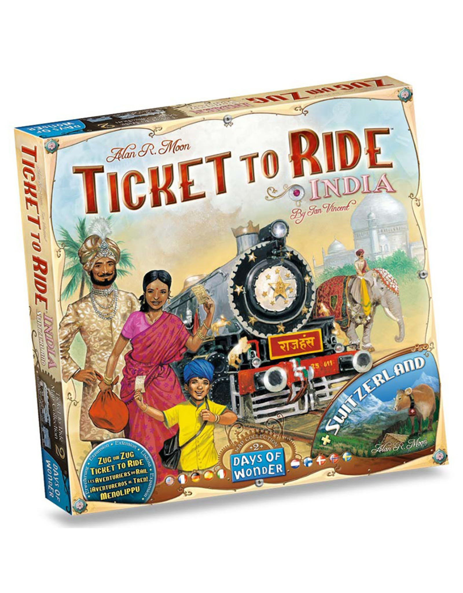 Ticket to Ride Expansion 2 India and Switzerland