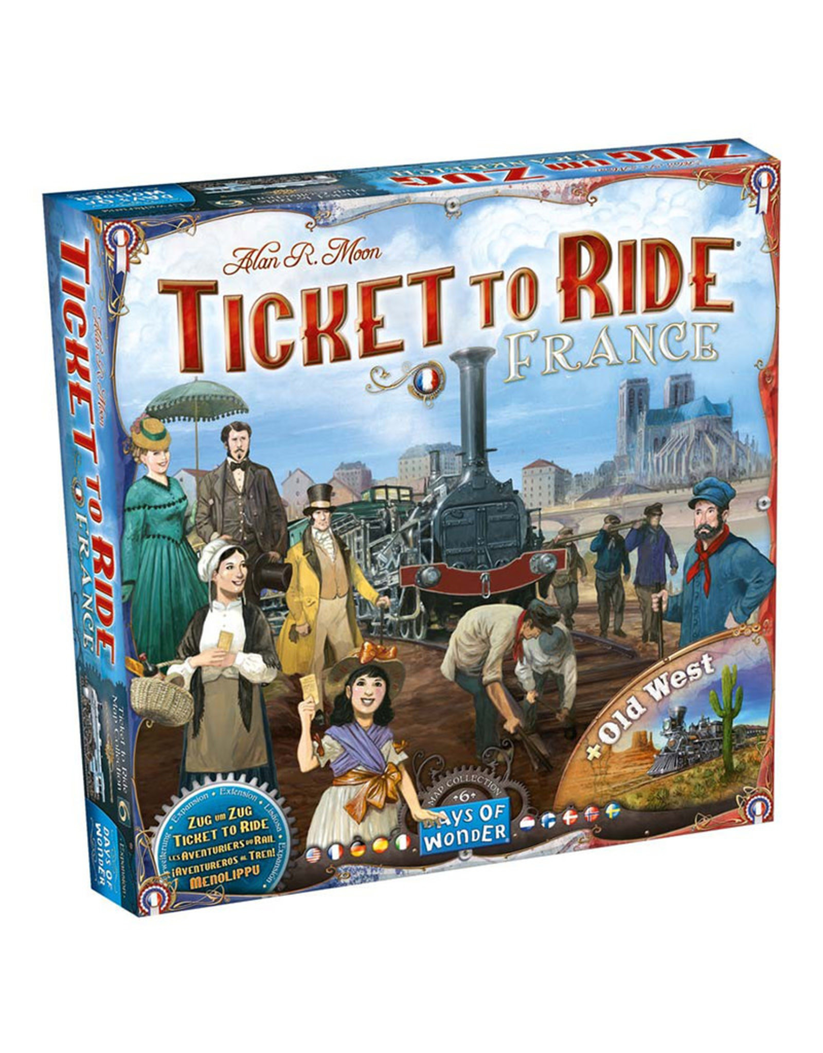 Ticket to Ride Expansion 6 France and Old West