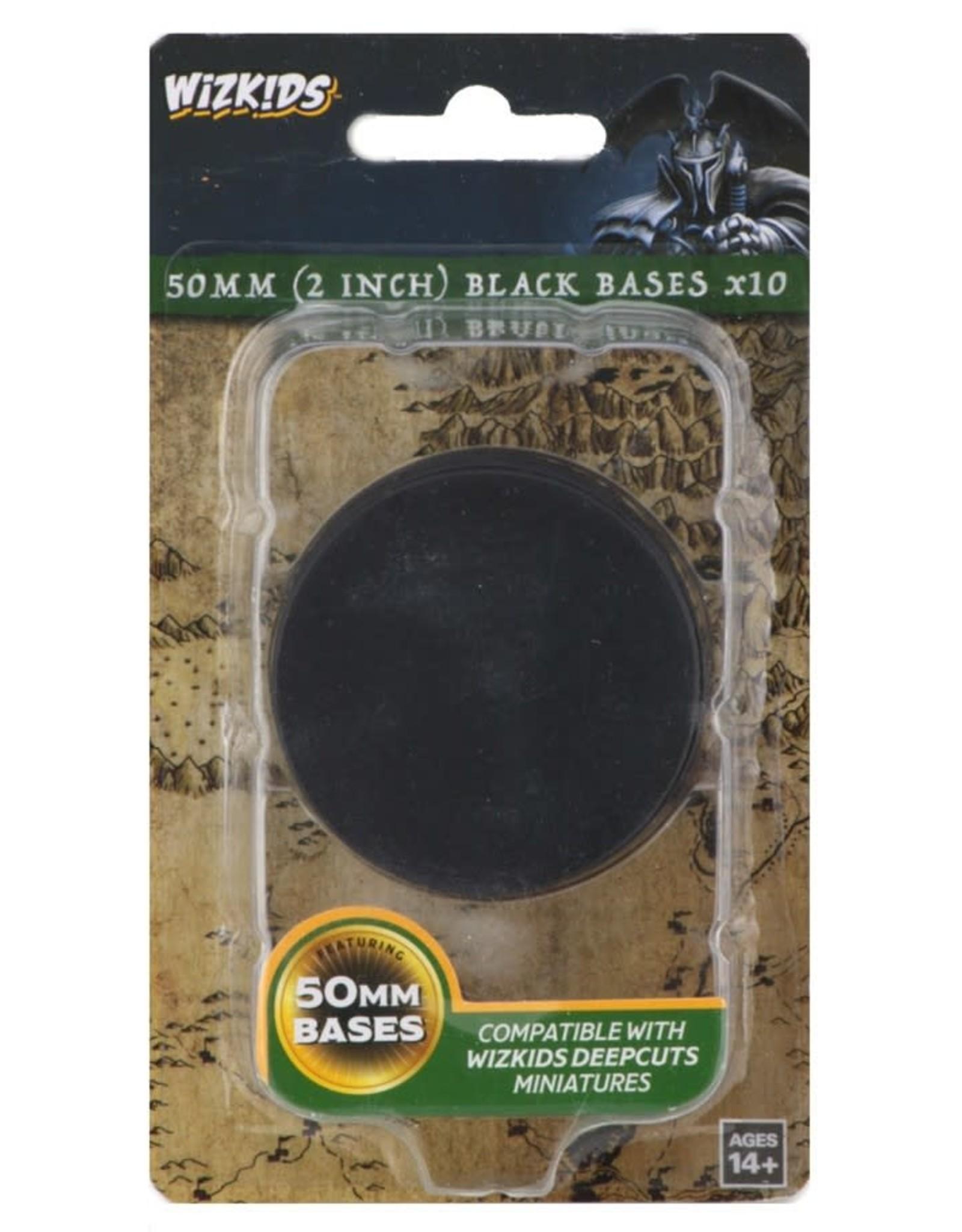 Wizkids Deep Cuts Unpainted Minis: 50mm Round Base (10) Black