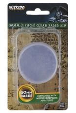 Wizkids Deep Cuts Unpainted Miniatures: 50mm Round Base (10) Clear