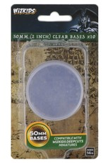 Wizkids Deep Cuts Unpainted Minis: 50mm Round Base (10) Clear
