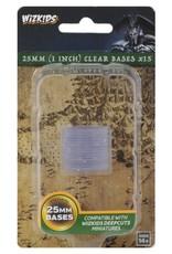 Wizkids Deep Cuts Unpainted Miniatures: 25mm Round Base (15) Clear