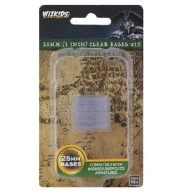 Wizkids Deep Cuts Unpainted Minis: 25mm Round Base (15) Clear