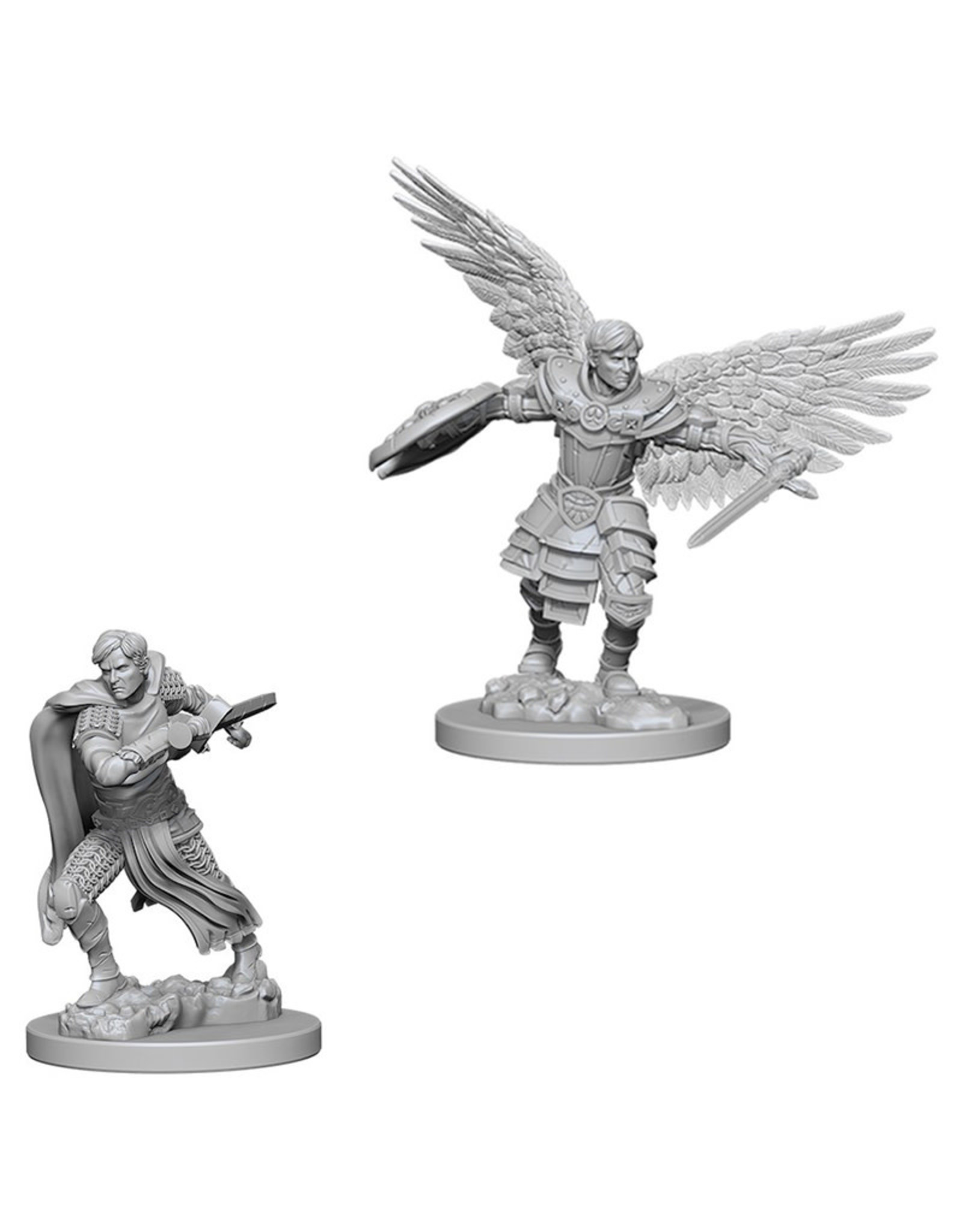 Wizkids D&D Nolzur's Unpainted Miniatures: Aasimar Fighter Male
