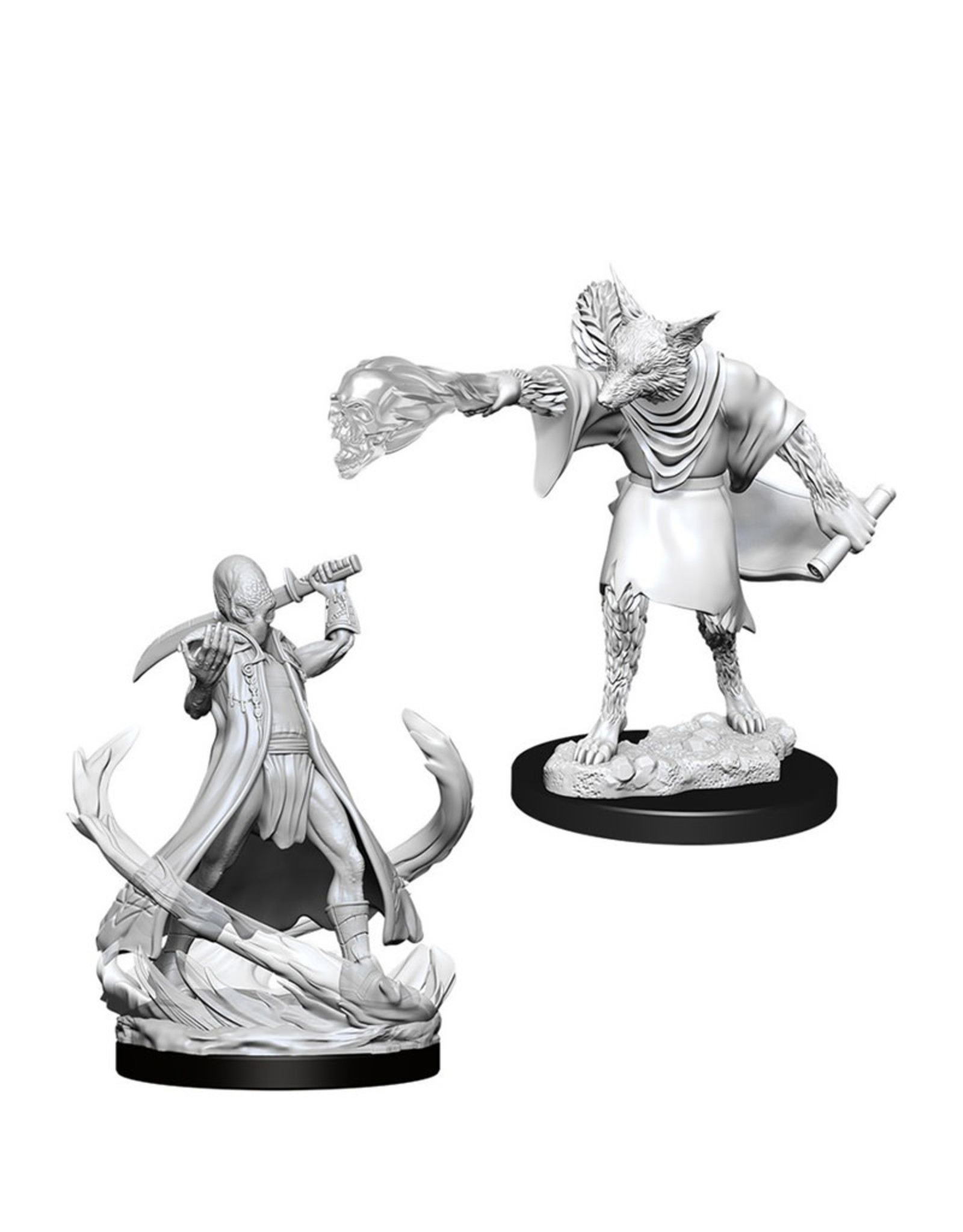 Wizkids D&D Unpainted Minis: Arcanaloth and Ultroloth
