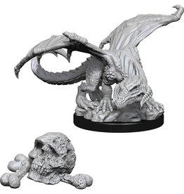 Wizkids D&D Unpainted Minis: Black Dragon Wyrmling
