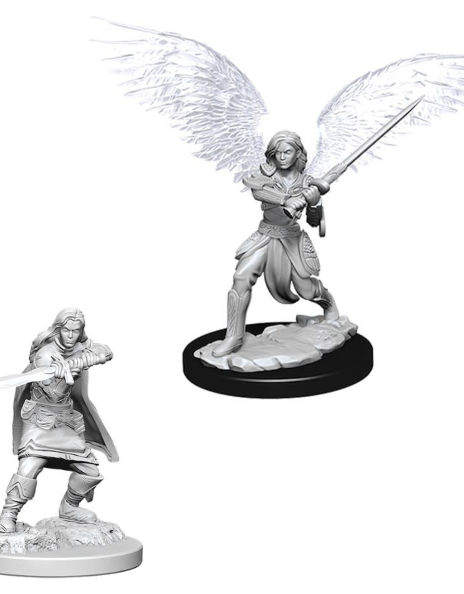 Wizkids D&D Unpainted Minis: Aasimar Fighter Female