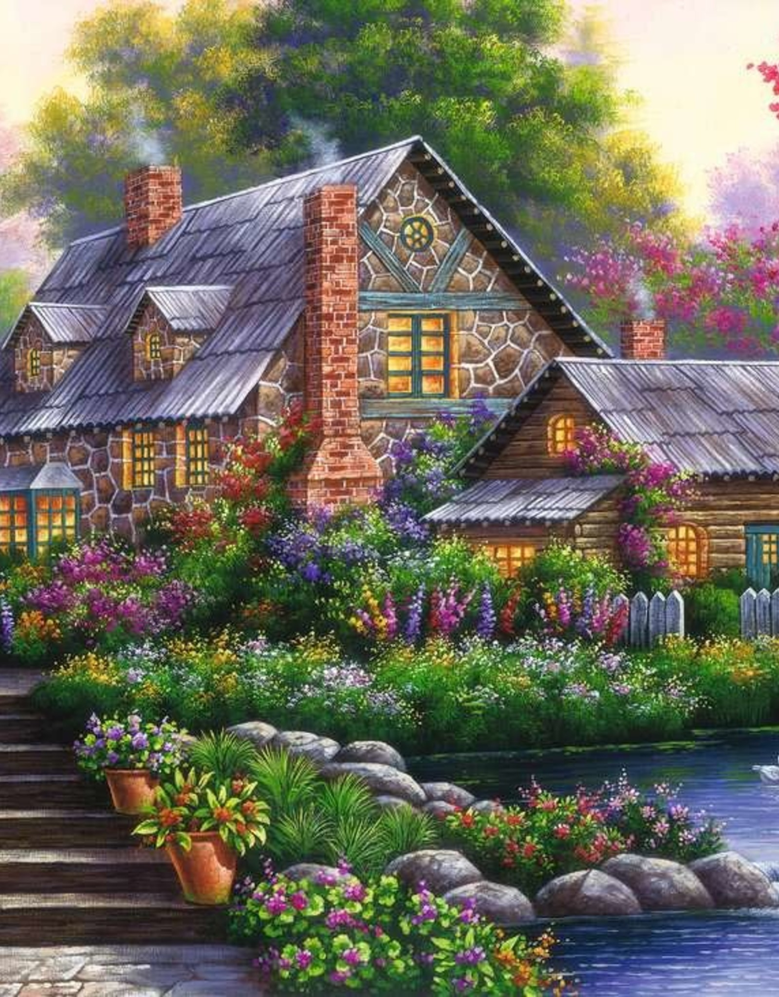 Ravensburger Romantic Cottage 1000 PCS