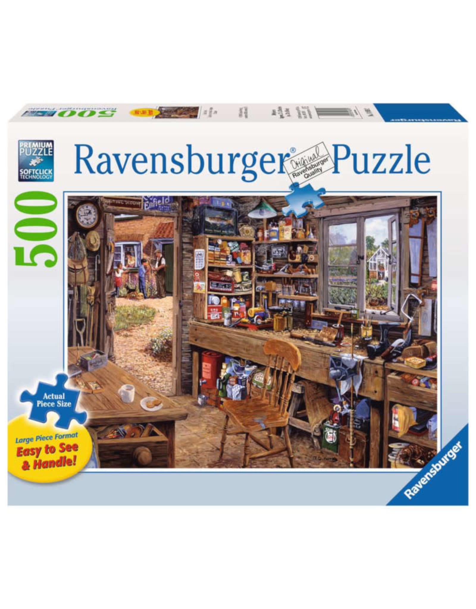 Ravensburger Dad's Shed 500 PCS Large Format