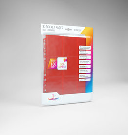 18-Pocket Pages: Side-Loading (10) Red