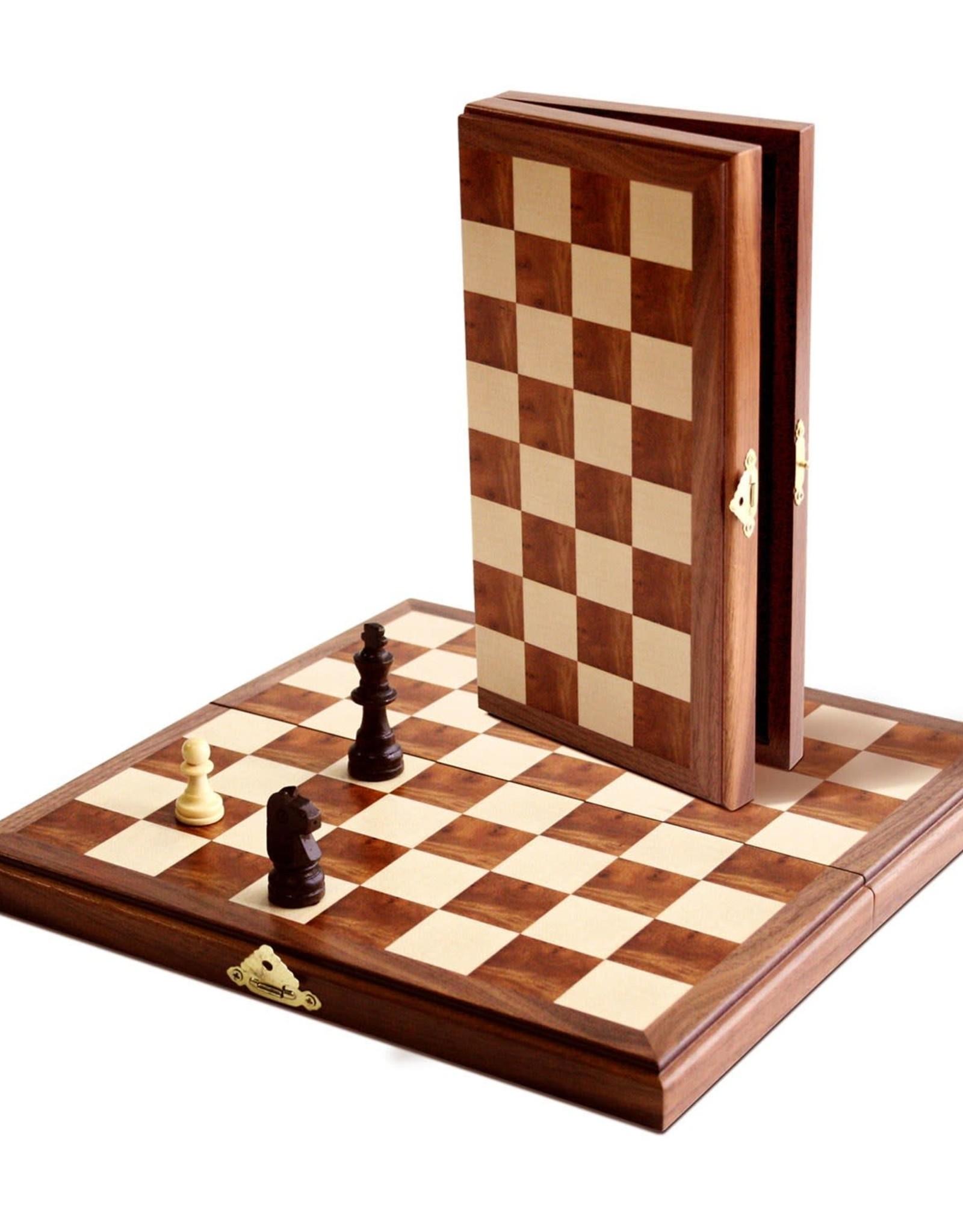 Magnetic Chess Set: 11 Inch Walnut Board
