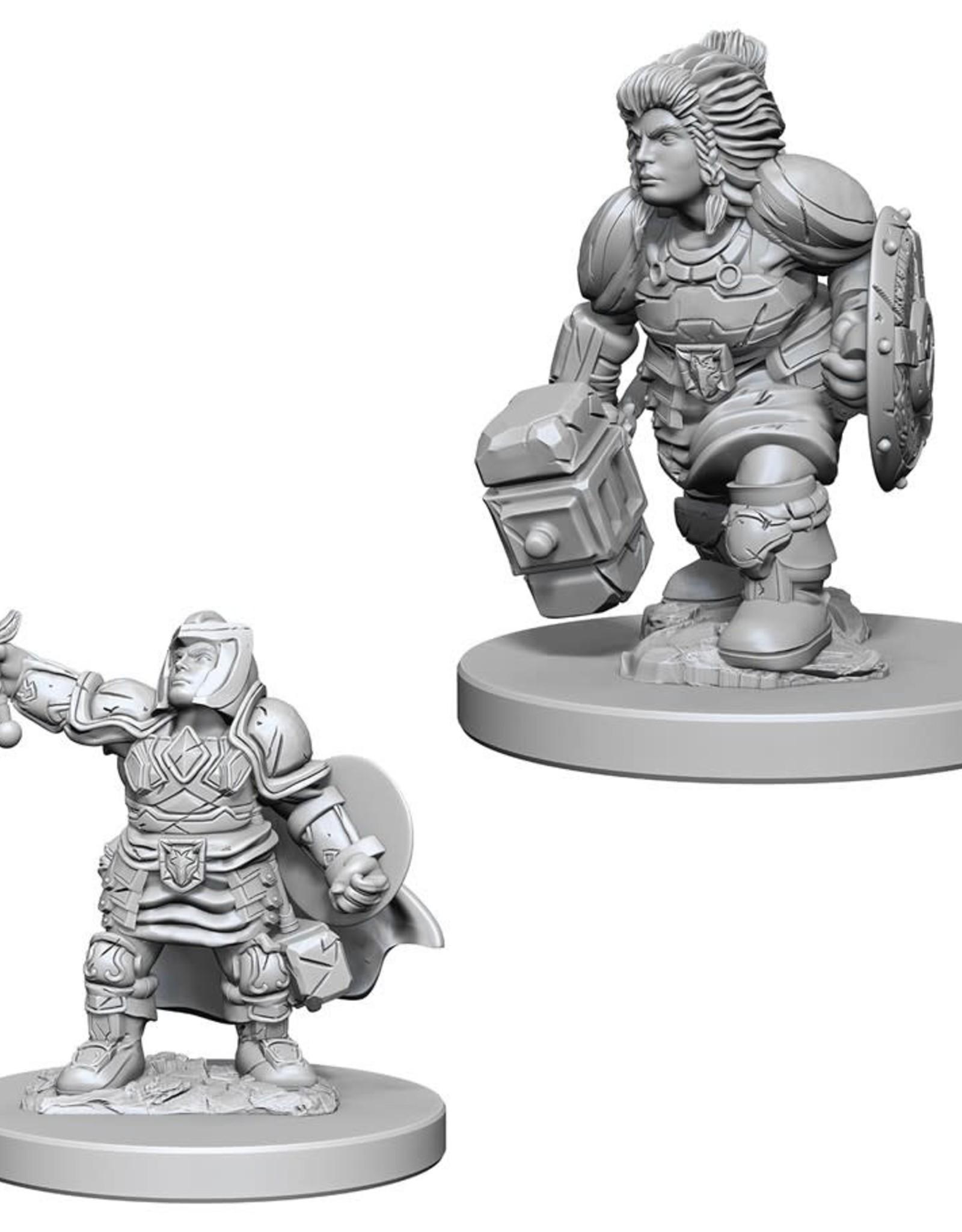 Wizkids D&D Unpainted Minis: Dwarf Paladin Female