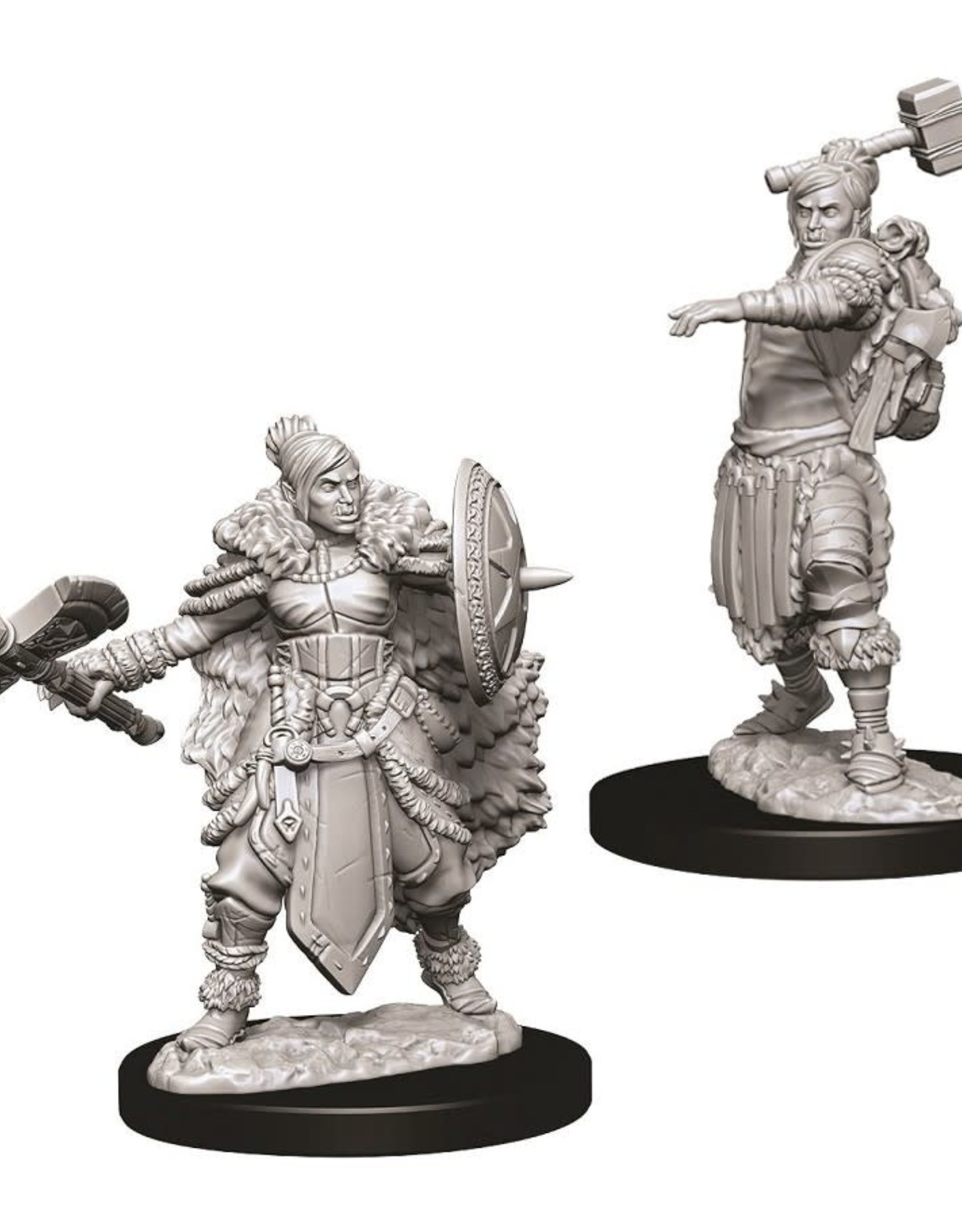 Wizkids D&D Unpainted Minis: Half-Orc Barbarian Female
