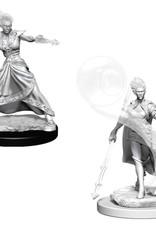 Wizkids D&D Unpainted Minis: Fire Genasi Wizard Female