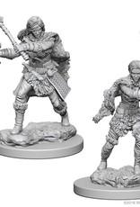 Wizkids D&D Unpainted Minis: Human Barbarian Female