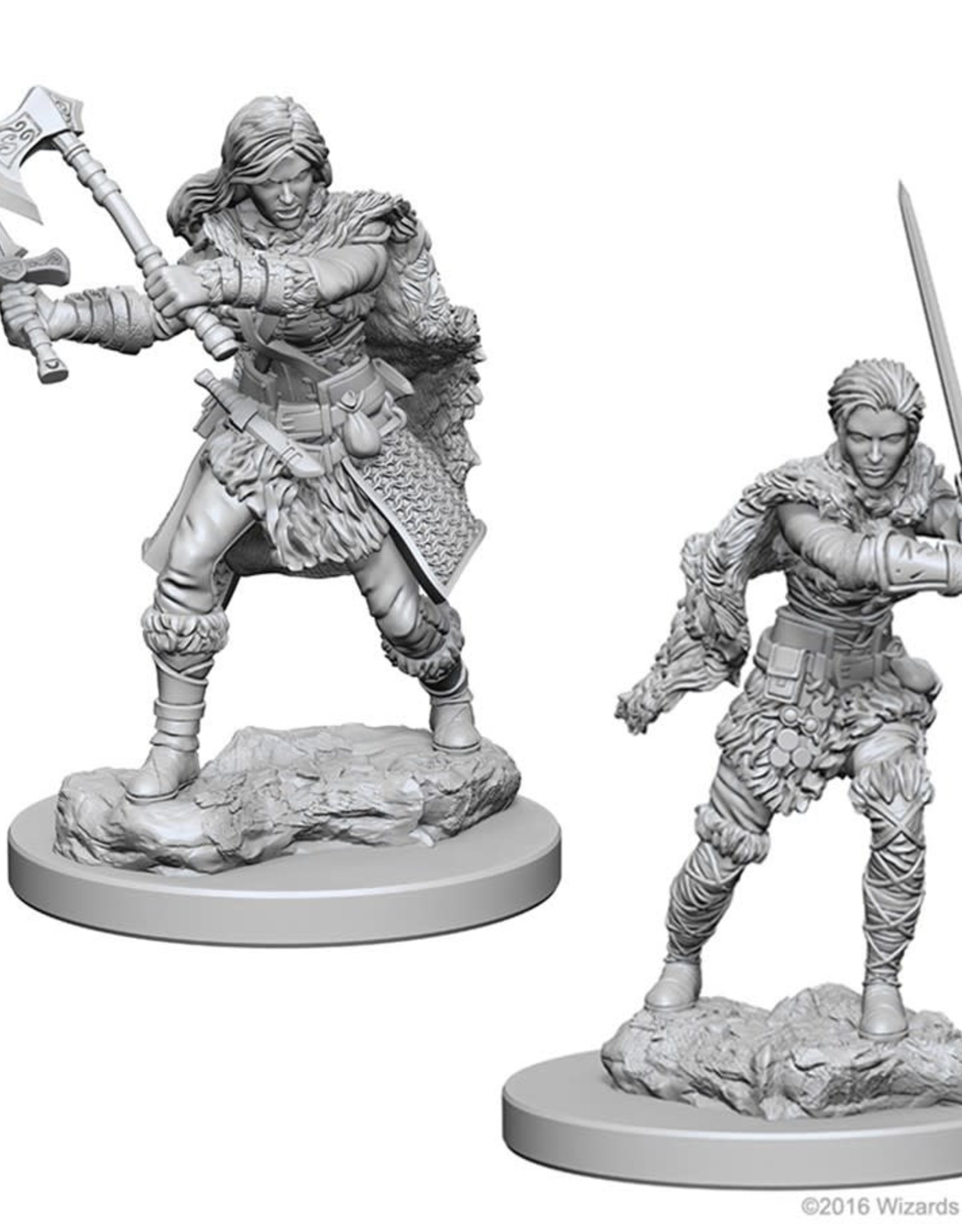 Wizkids D&D Nolzur's Unpainted Miniatures: Human Barbarian Female
