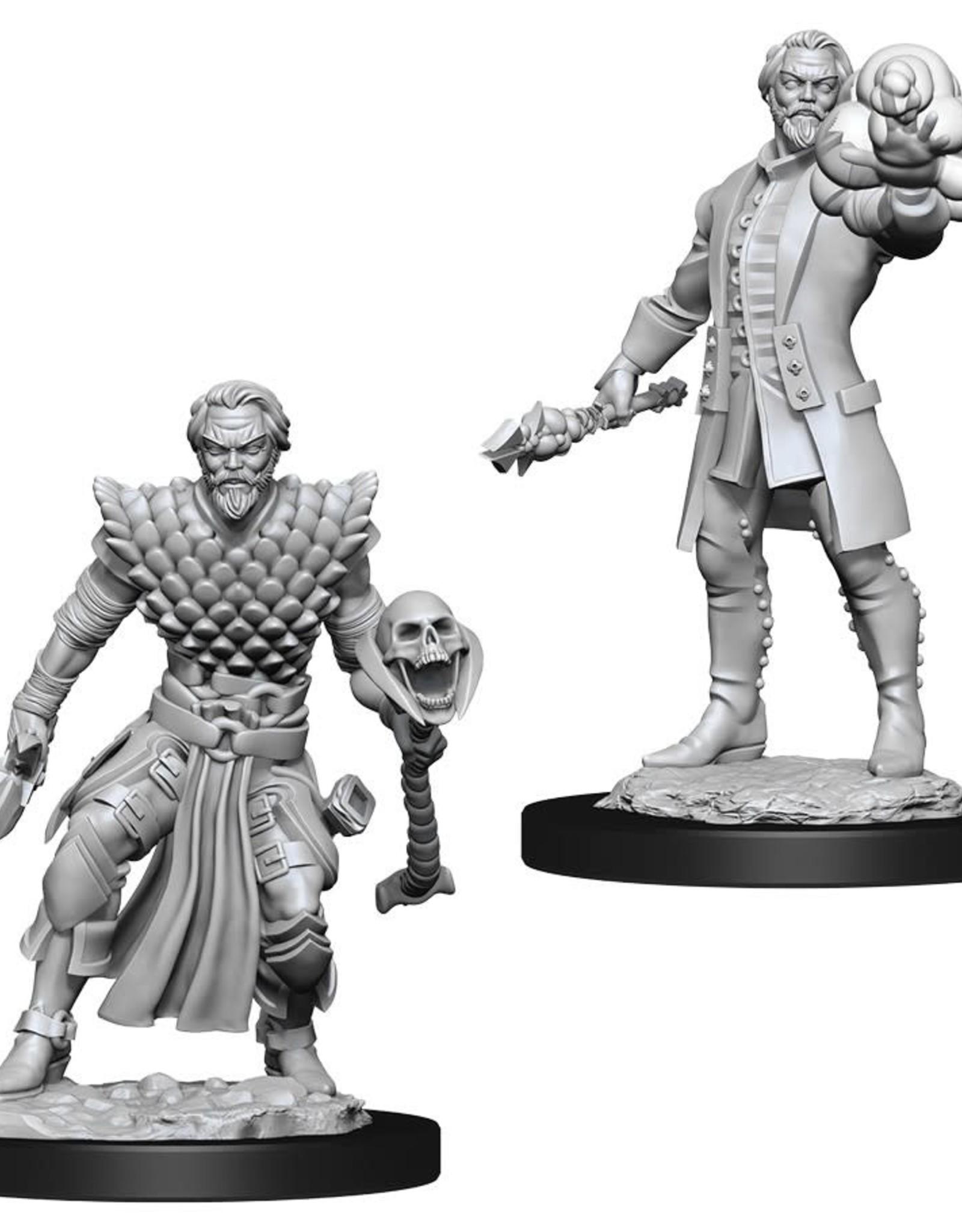 Wizkids D&D Unpainted Minis: Human Warlock Male