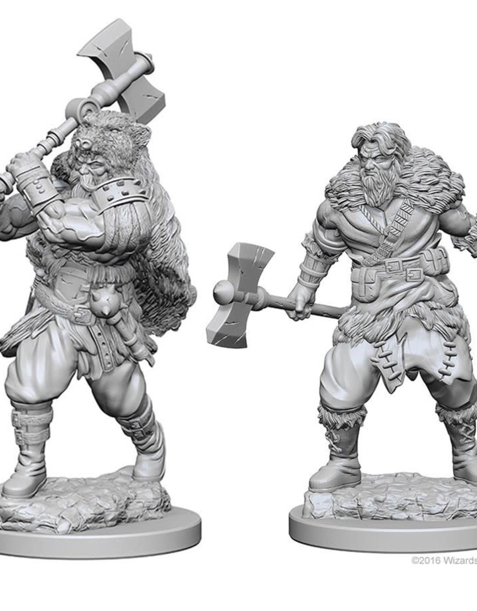 Wizkids D&D Nolzur's Unpainted Miniatures: Human Barbarian Male
