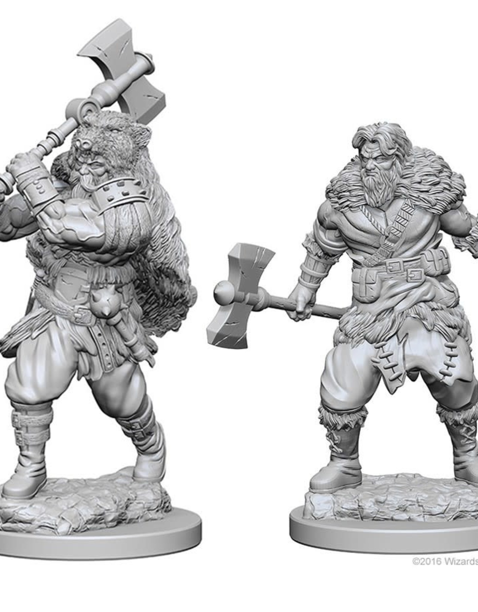 Wizkids D&D Unpainted Minis: Human Barbarian Male