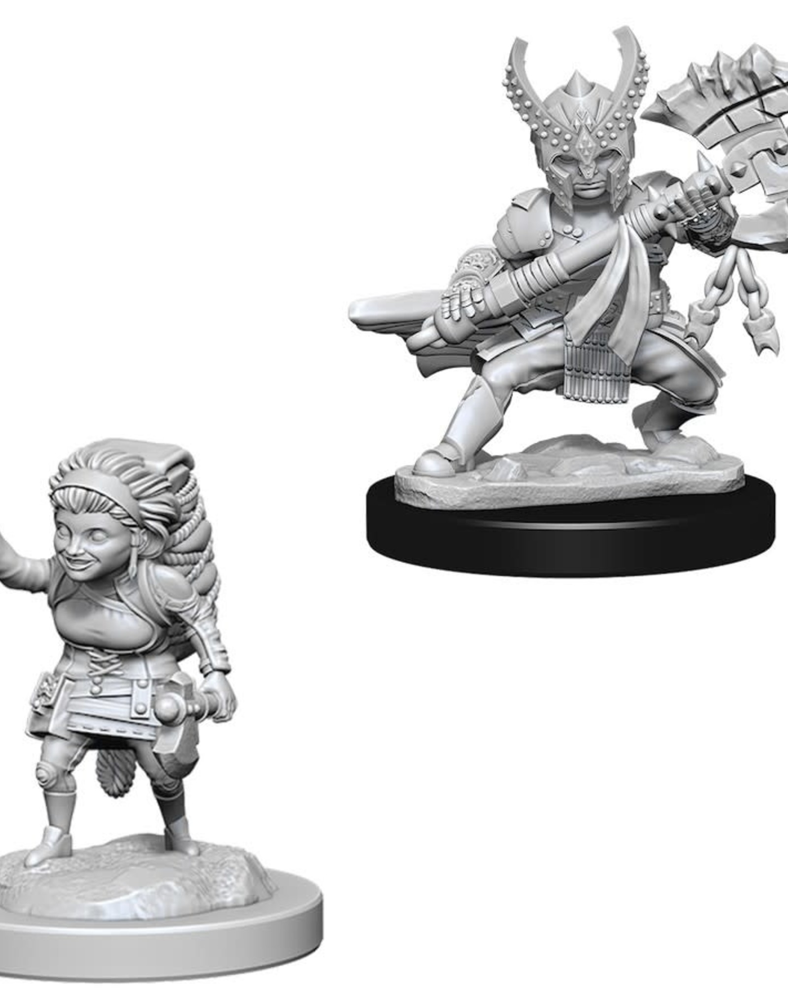 Wizkids D&D Unpainted Minis: Halfling Fighter Female