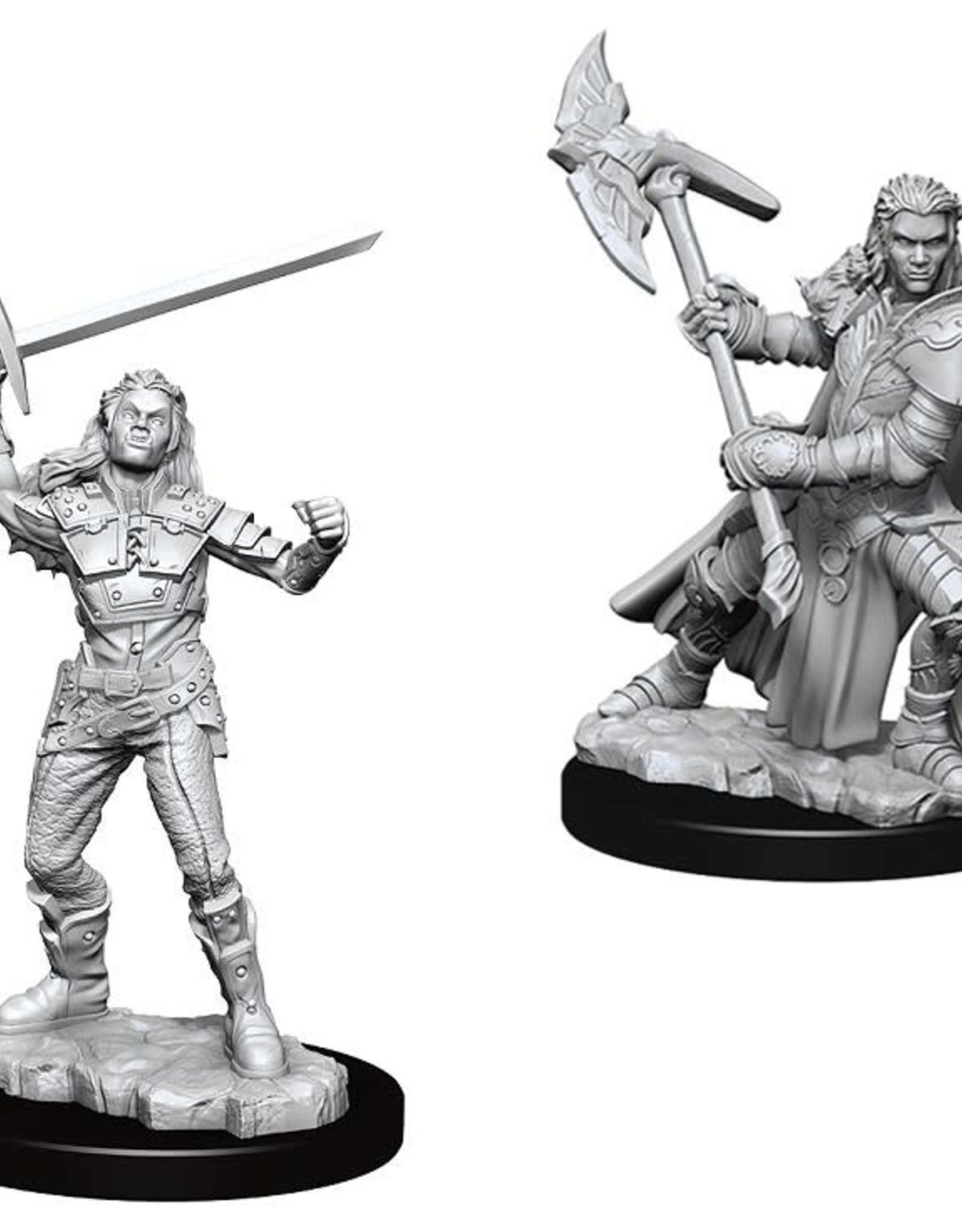 Wizkids D&D Unpainted Minis: Half-Orc Fighter Female