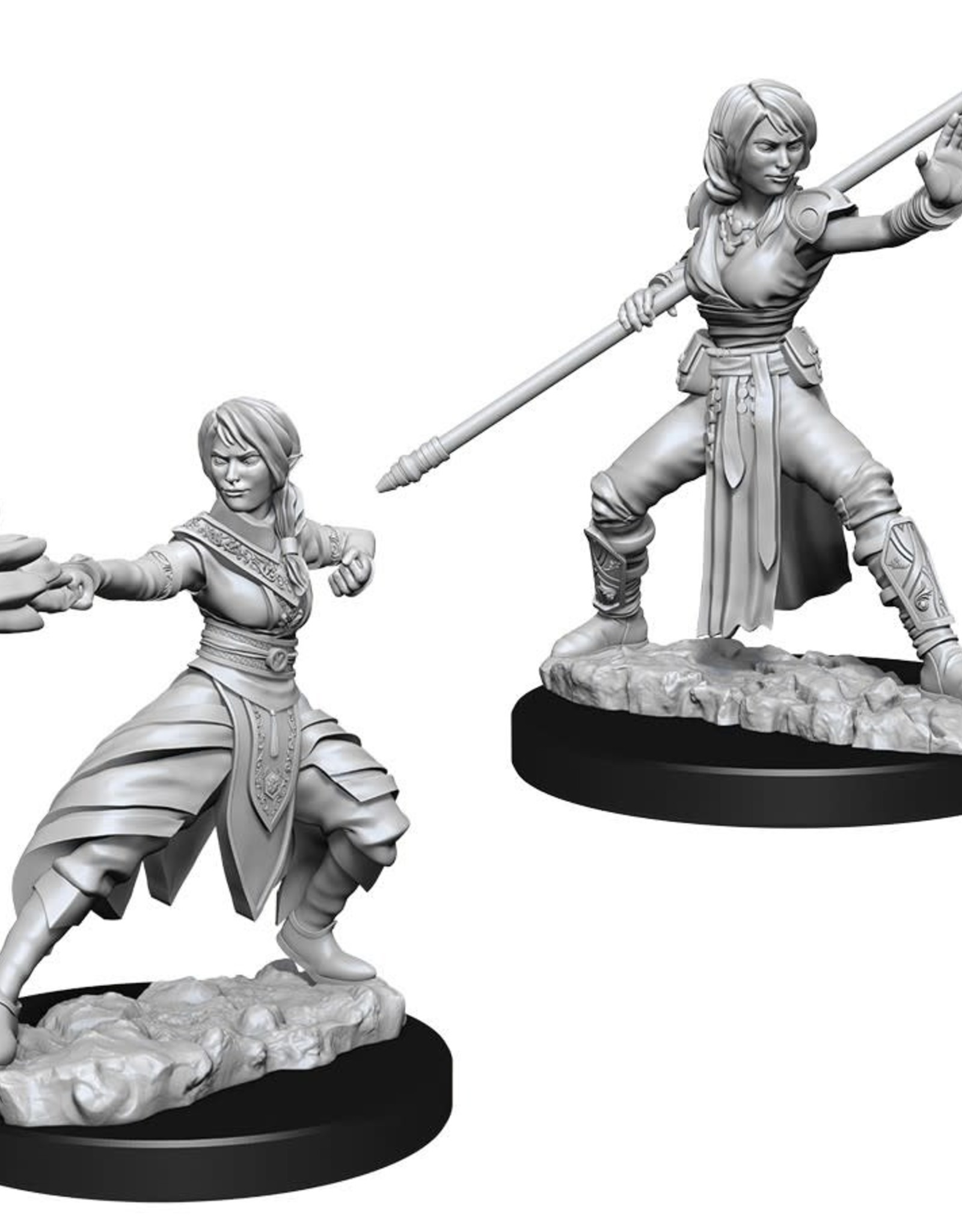 Wizkids D&D Unpainted Minis: Half-Elf Monk Female