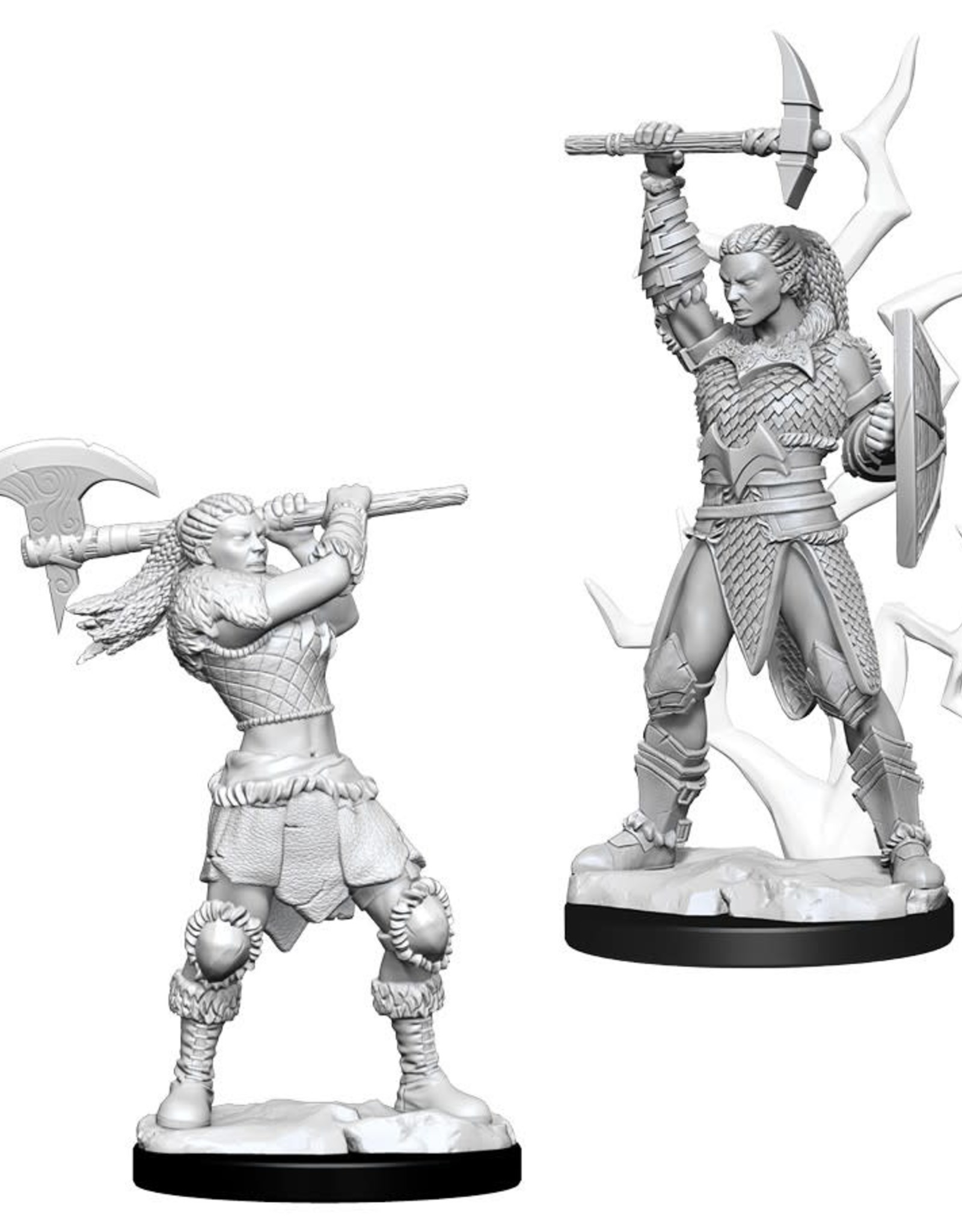 Wizkids D&D Nolzur's Unpainted Miniatures: Goliath Barbarian Female