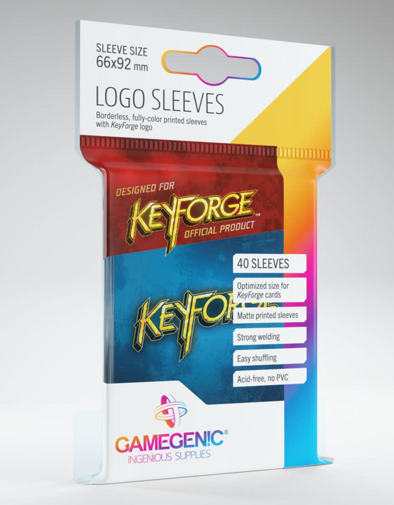 Keyforge Logo Sleeves: Blue (40)