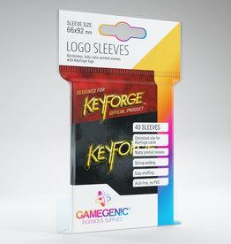 Keyforge Logo Sleeves: Black (40)
