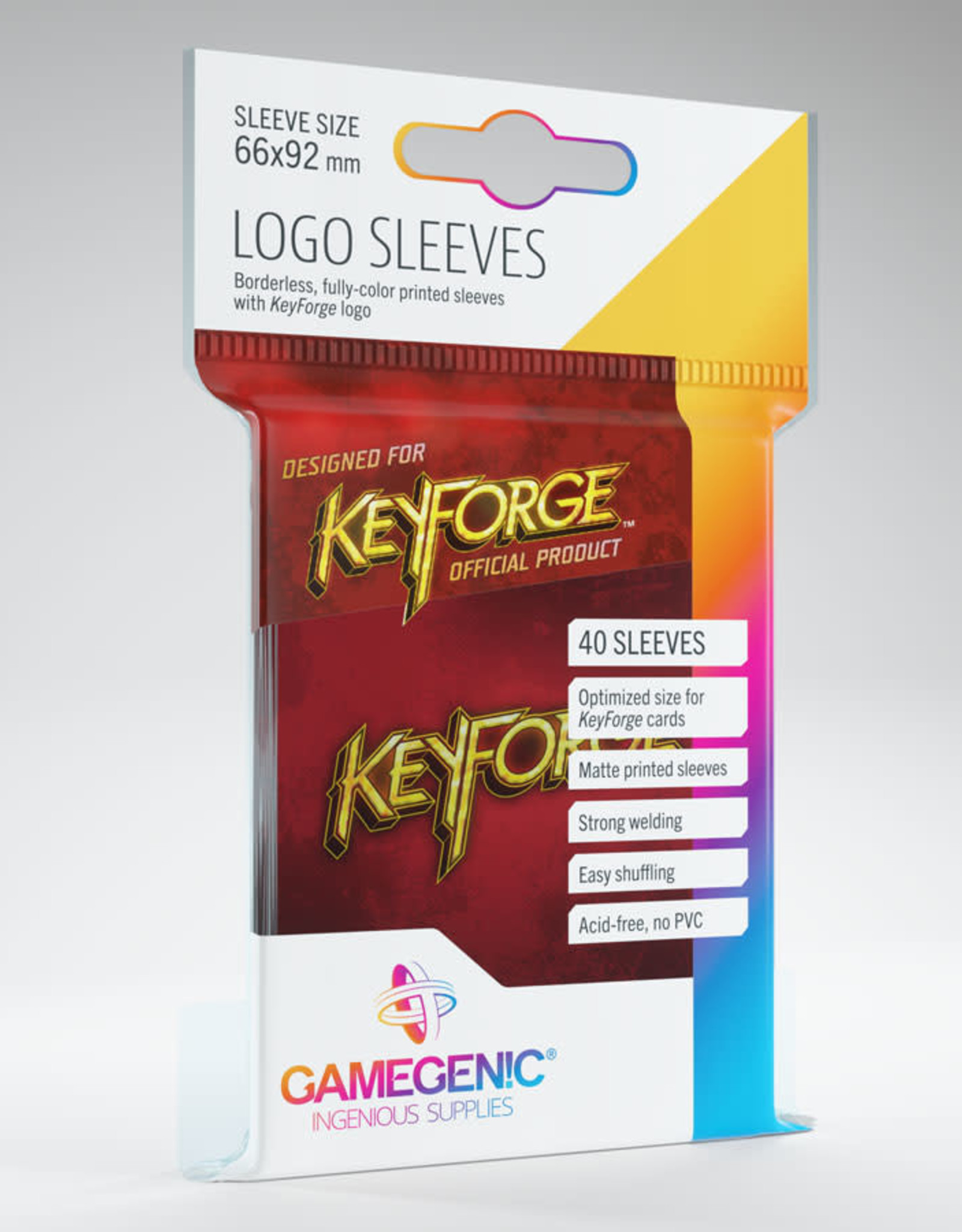 Keyforge Logo Sleeves: Red (40)