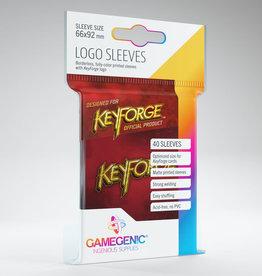 Keyforge Logo Sleeves: Red (40)
