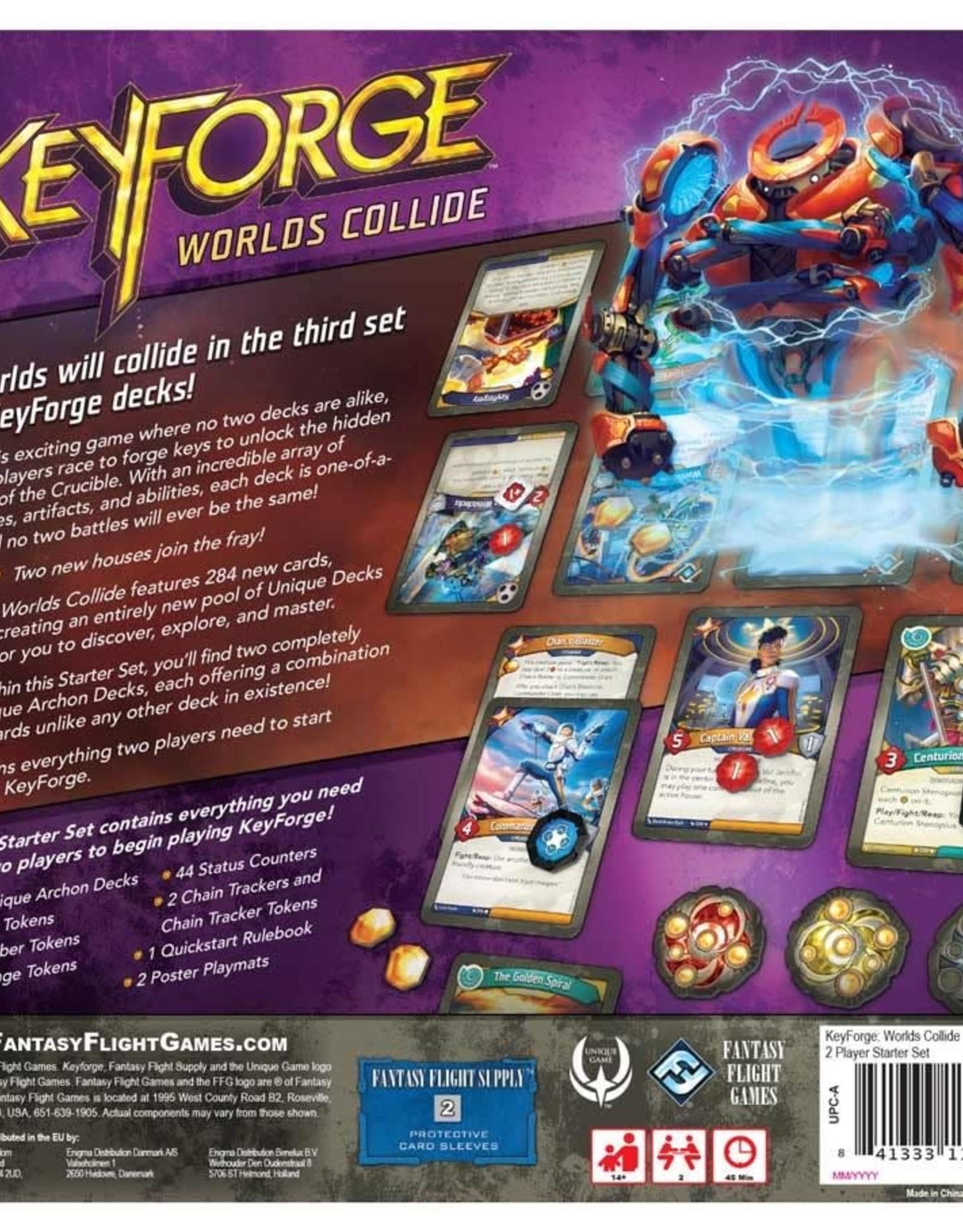 Fantasy Flight Games Keyforge Worlds Collide 2-Player Starter Set