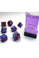Chessex Polyhedral Dice Set: Gemini Blue Purple/Gold (7)