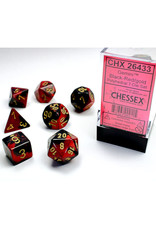 Chessex Polyhedral Dice Set: Gemini Black Red/Gold (7)