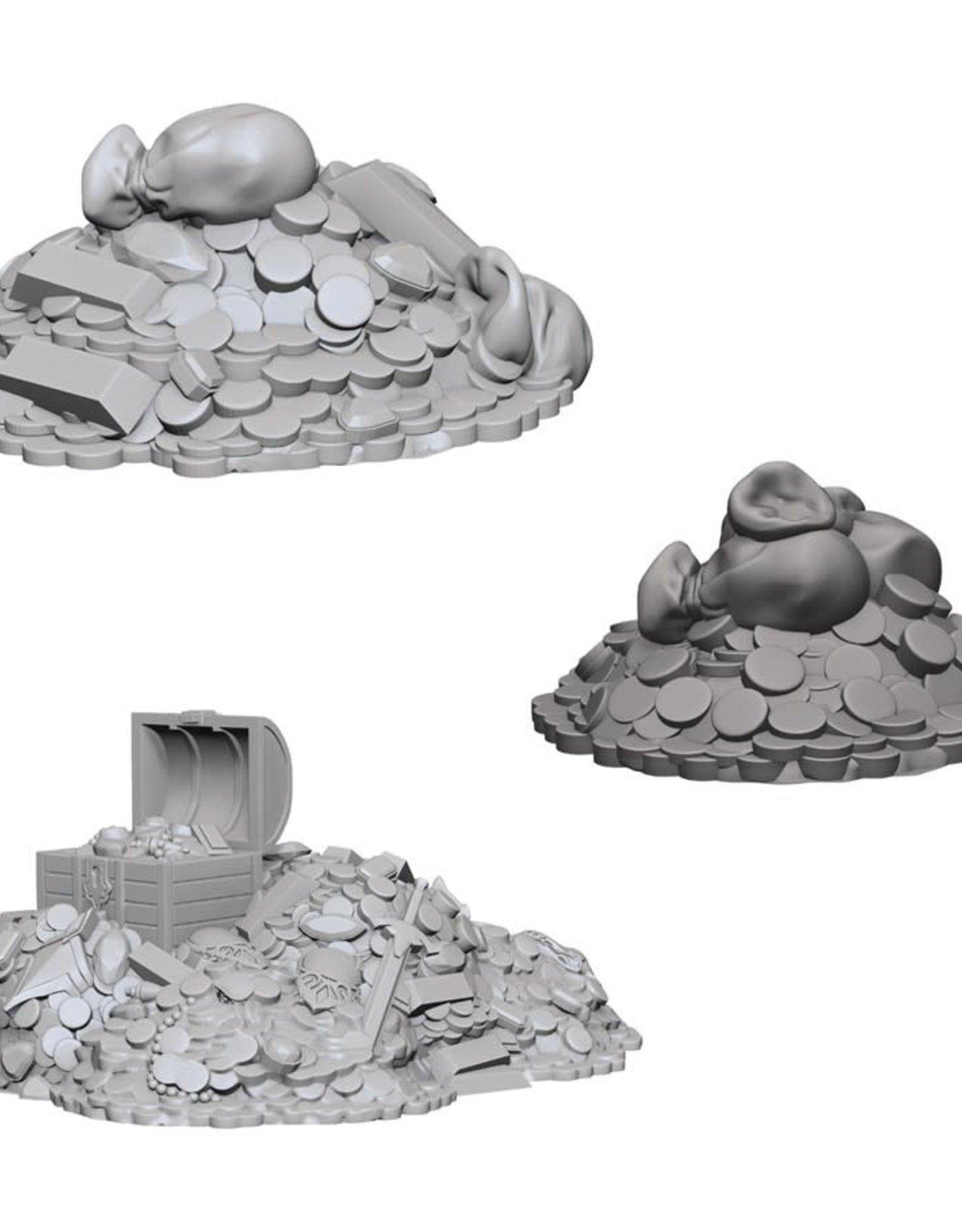 Wizkids Deep Cuts Unpainted Miniatures: Treasure Piles