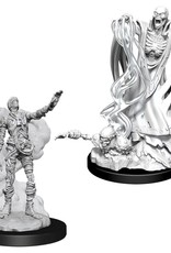 Wizkids D&D Nolzur's Unpainted MIniatures: Lich and Mummy Lord