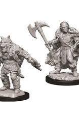 Wizkids D&D Nolzur's Unpainted Miniatures: Half-Orc Barbarian Male
